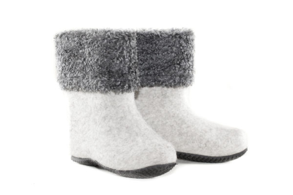 Short felt boots for women-464