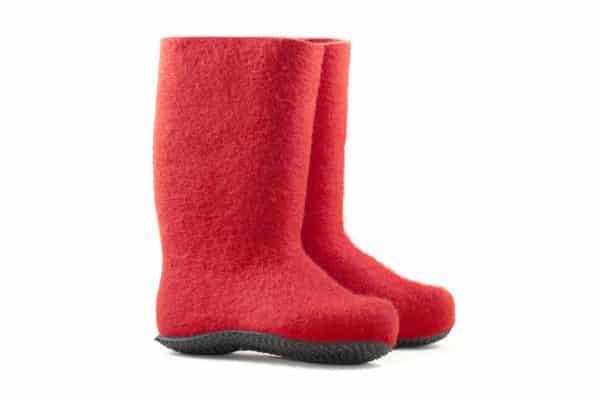 red felt boots